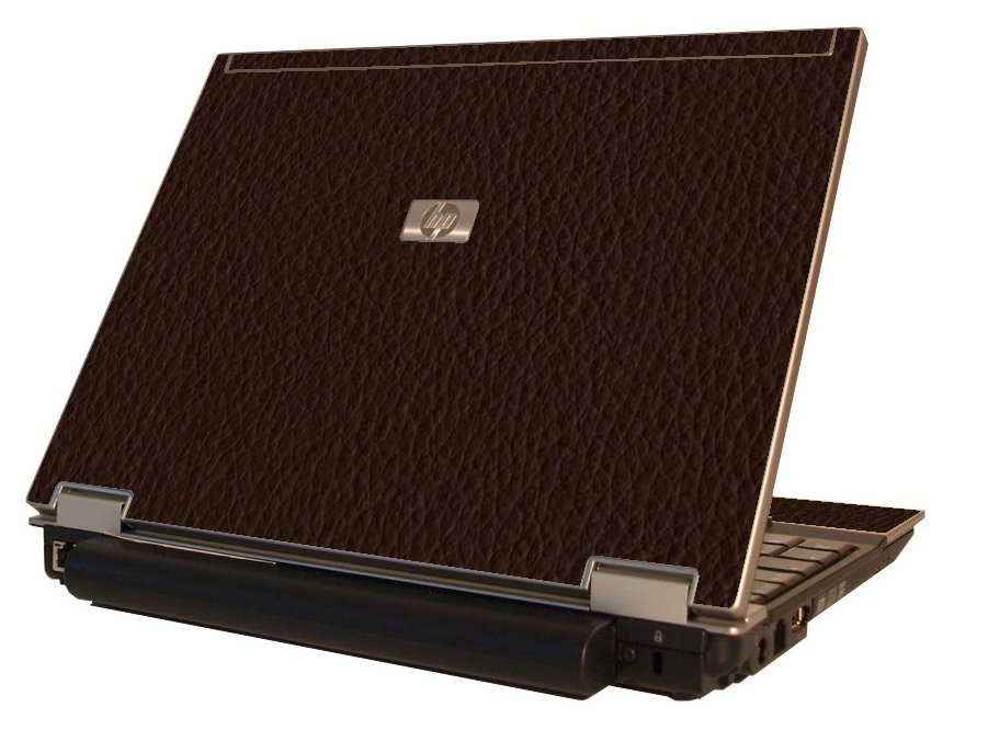 Brown Leather HP Elitebook 2530P Laptop Skin