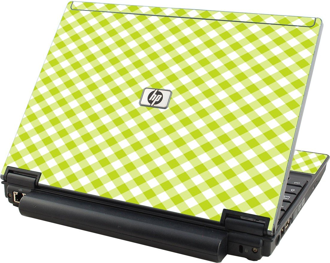 Green Checkered  HP Elitebook 2530P Laptop Skin