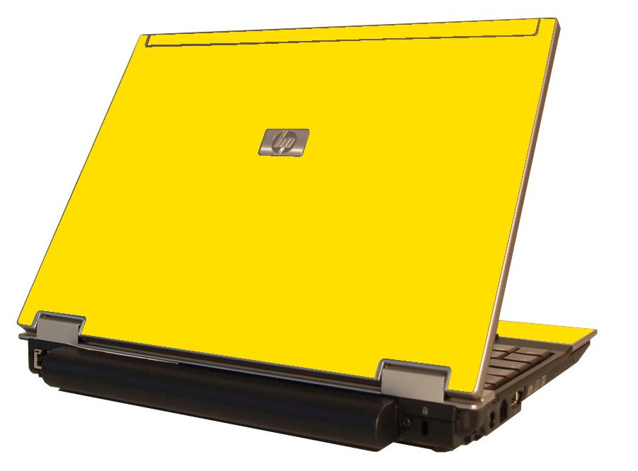 Yellow HP Elitebook 2530P Laptop Skin