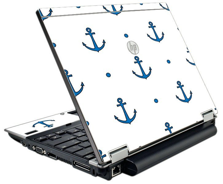 Blue Anchors HP Elitebook 2540P Laptop Skin
