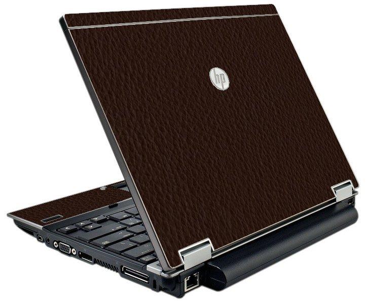 Brown Leather  HP Elitebook 2540P Laptop Skin
