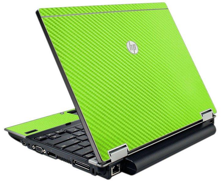 Green Carbon Fiber HP Elitebook 2540P Laptop Skin