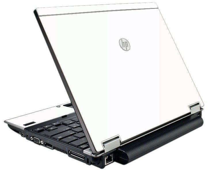 White HP Elitebook 2540P Laptop Skin