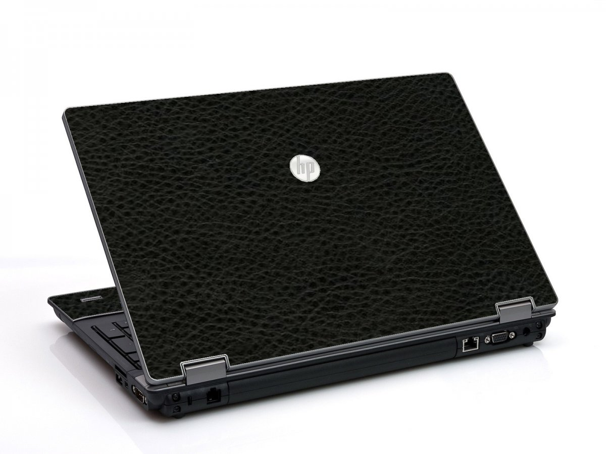 Black Leather HP ProBook 6455B Laptop Skin