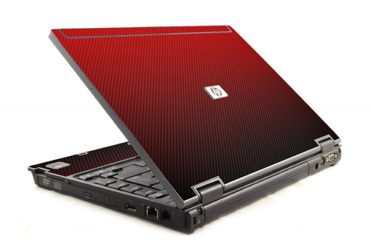 Red Carbon Fiber HP Compaq 6910P Laptop Skin