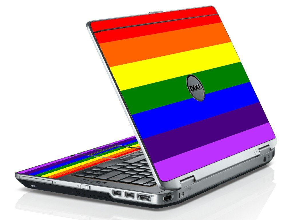 PRIDE FLAG DELL LATITUDE E6420 LAPTOP SKIN