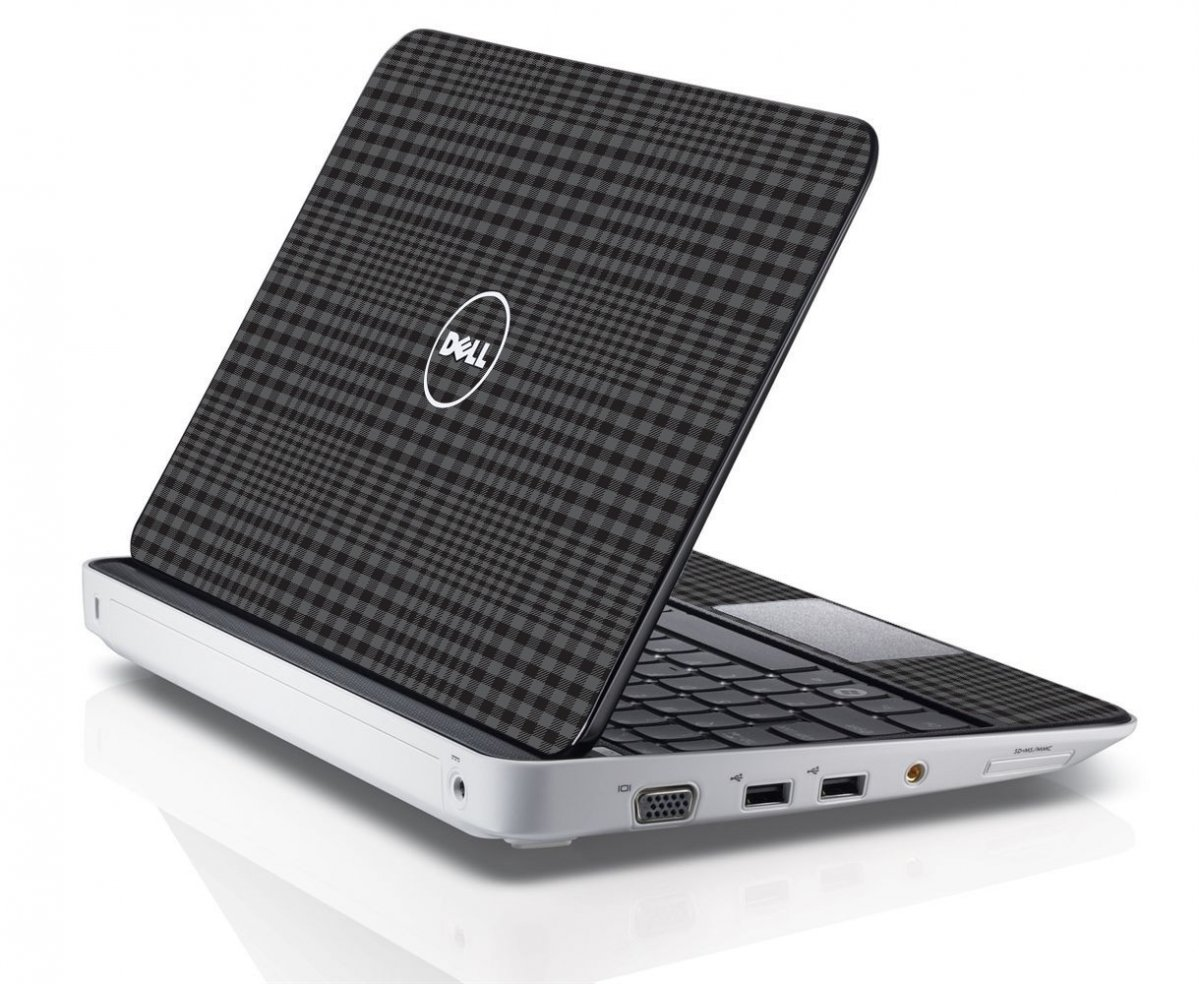 BLACK PLAID Dell Inspiron Mini 10 1012 Skin