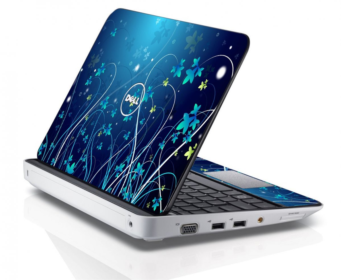 BLUE FLOWER Dell Inspiron Mini 10 1012 Skin