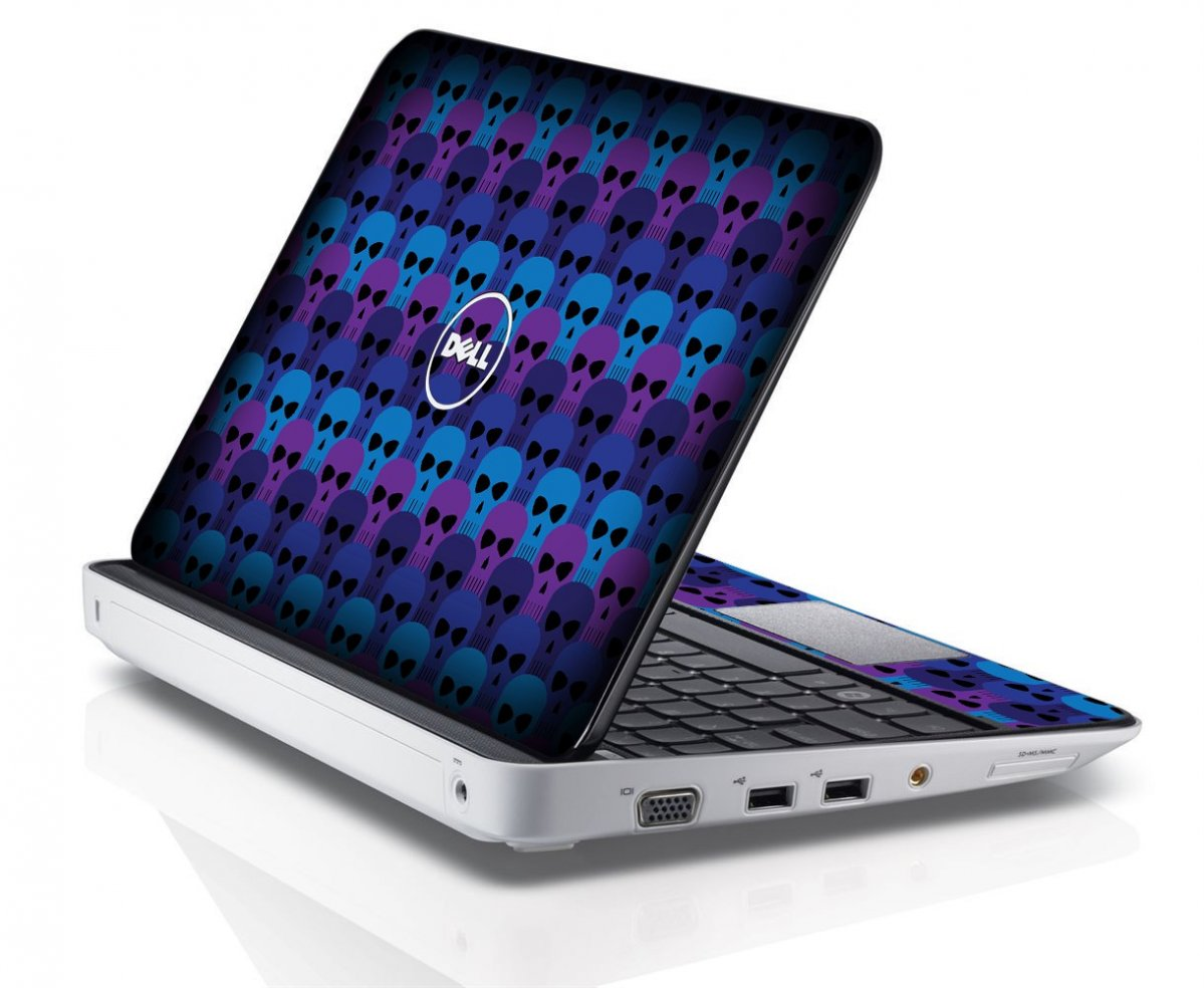 BLUE SKULLS Dell Inspiron Mini 10 1012 Skin
