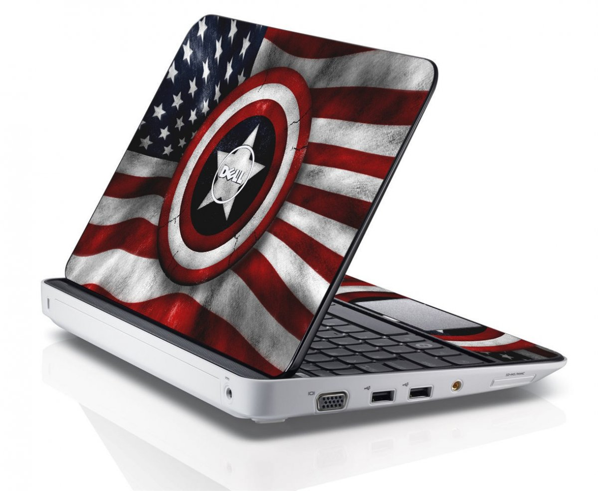 CAPTAIN AMERICA FLAG Dell Inspiron Mini 10 1012 Skin