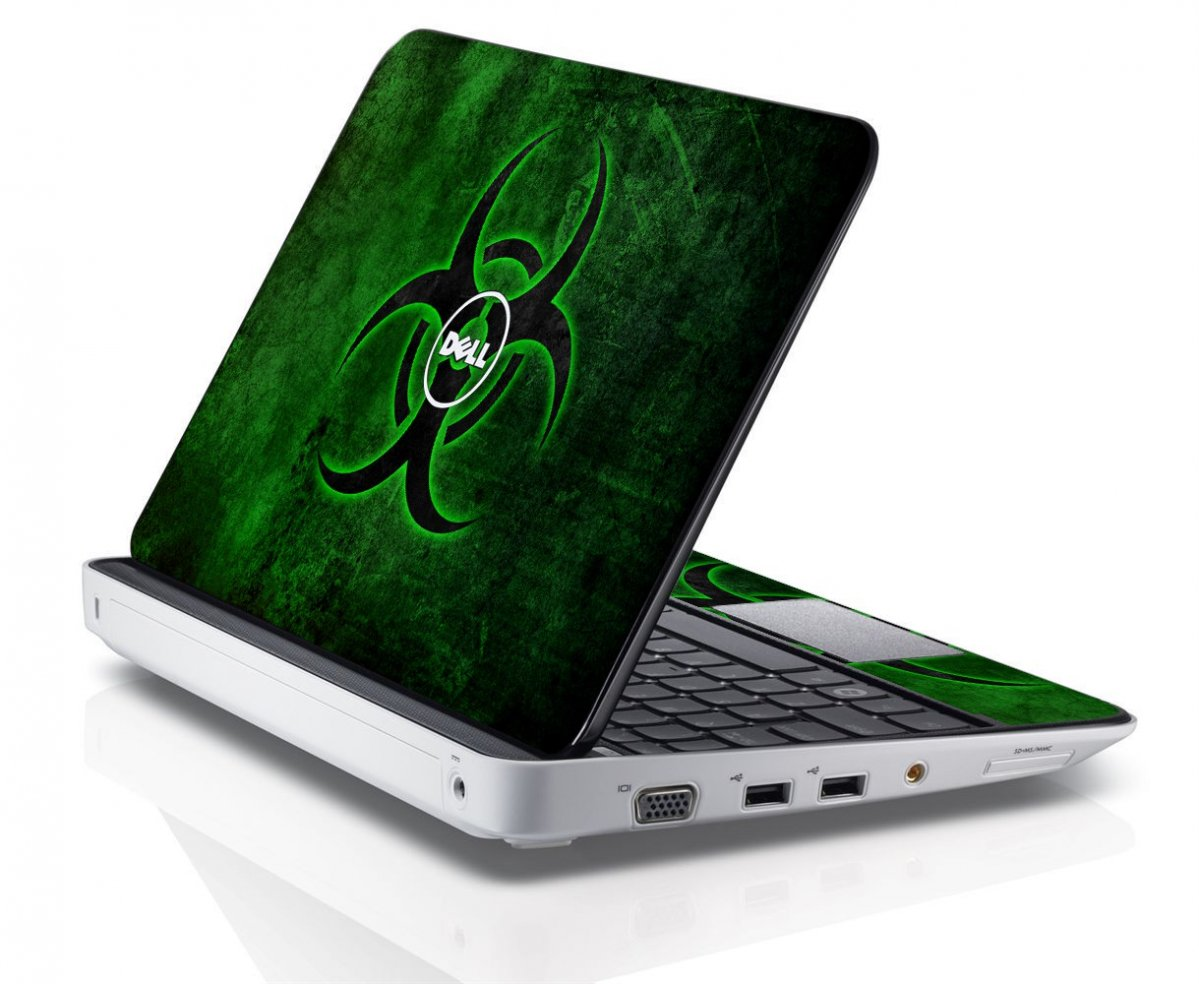 GREEN BIOHAZARD Dell Inspiron Mini 10 1012 Skin