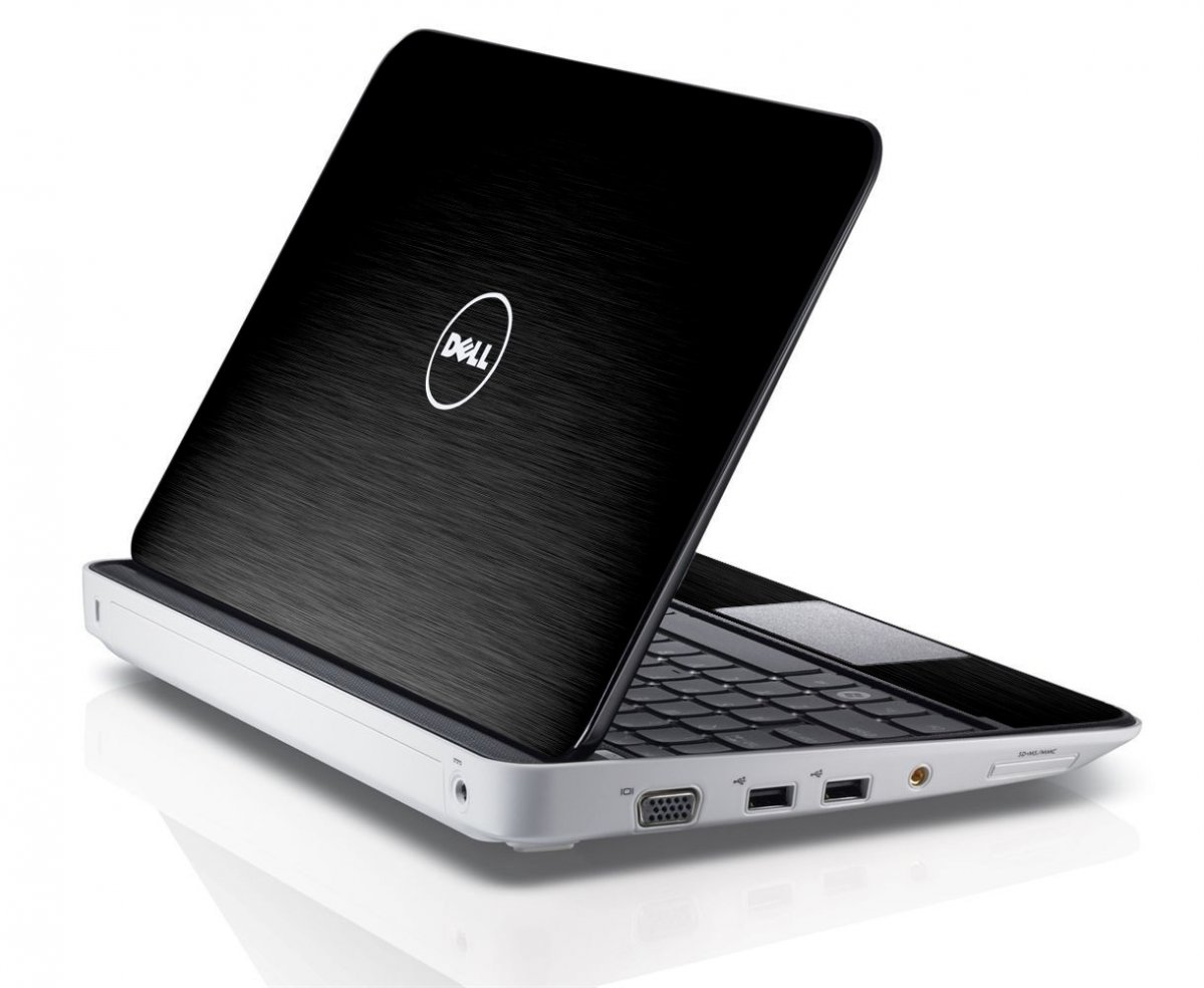 MTS TEXTURED BLACK Dell Inspiron Mini 10 1012 Skin