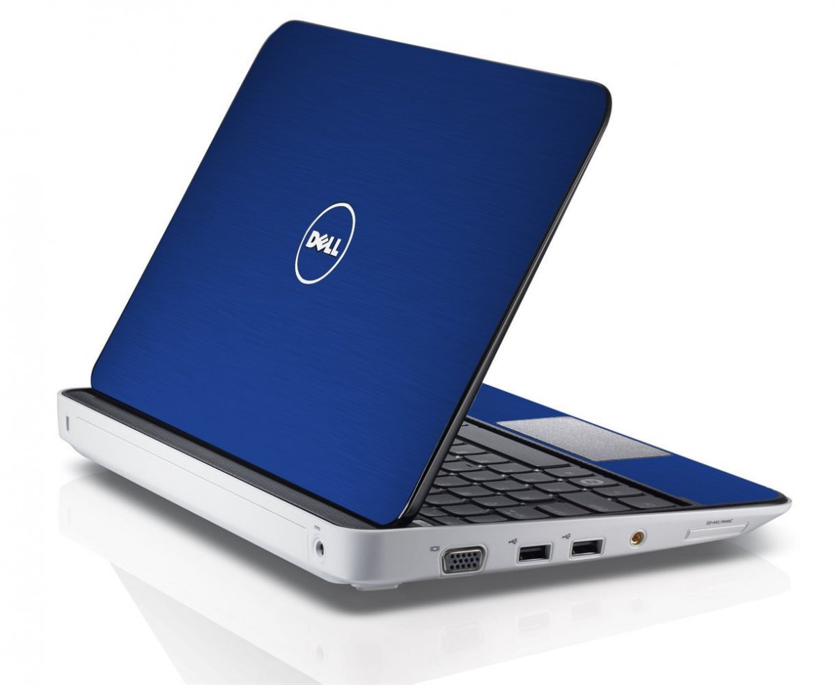 MTSBLUE TEXTURED ALUMINUM Dell Inspiron Mini 10 1012 Skin