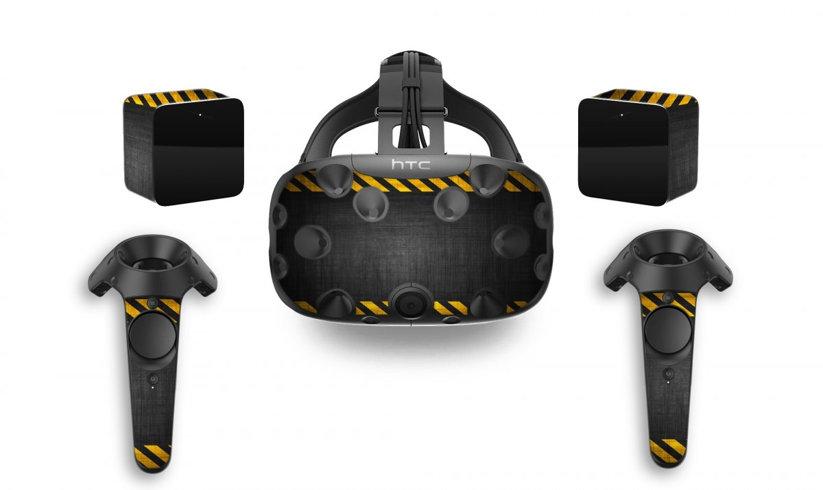 BLACK CAUTION BORDER HTC VIVE VR SKIN