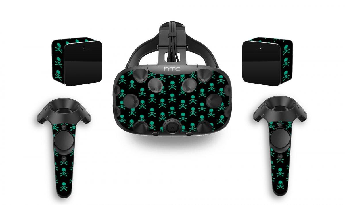 GREEN SKULLS HTC VIVE VR SKIN