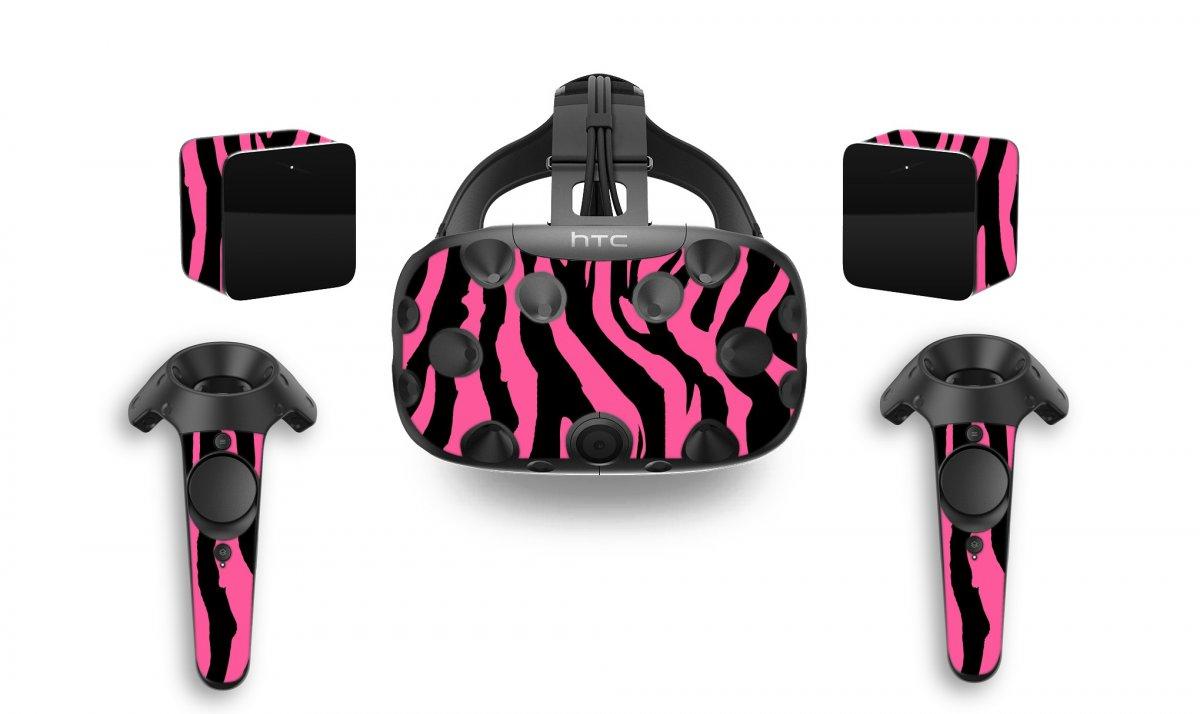 PINK ZEBRA HTC VIVE VR SKIN