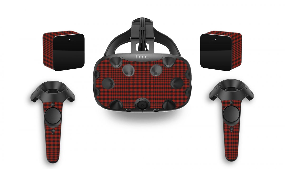 RED FLANNEL HTC VIVE VR SKIN