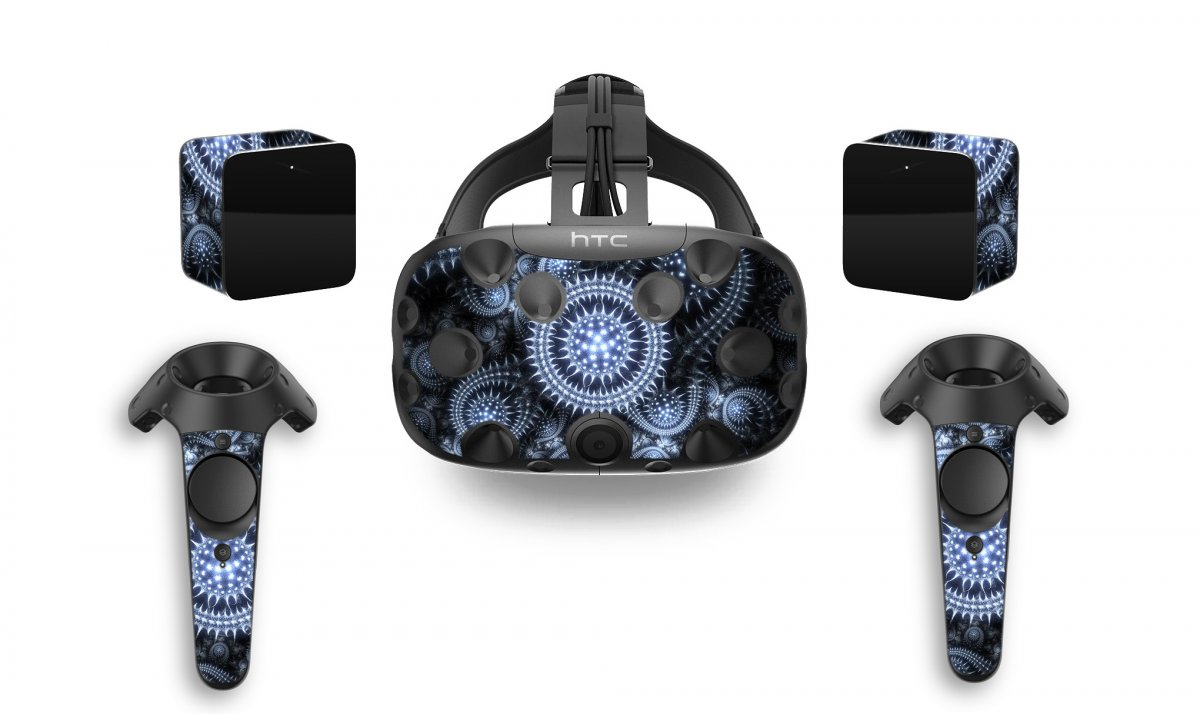SILVER ABSTRACT HTC VIVE VR SKIN