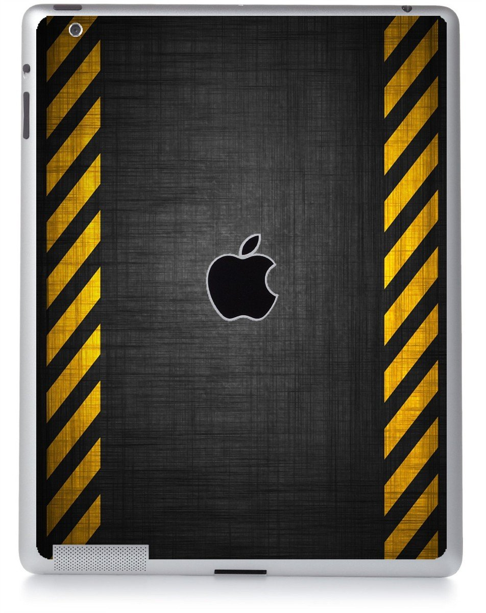 BLACK CAUTION BORDER Apple iPad 2 A1395 SKIN
