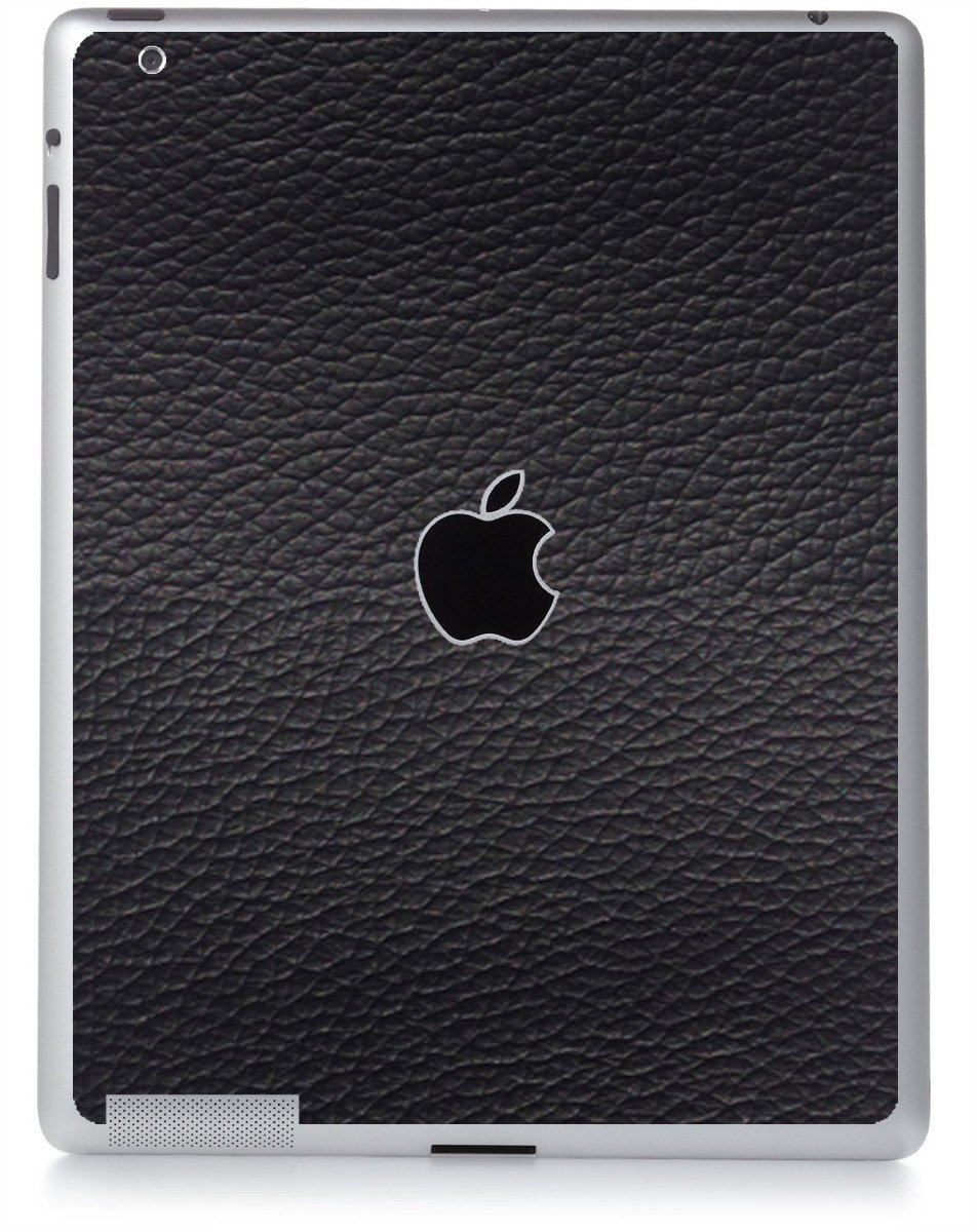 BLACK LEATHER Apple iPad 2 A1395 SKIN