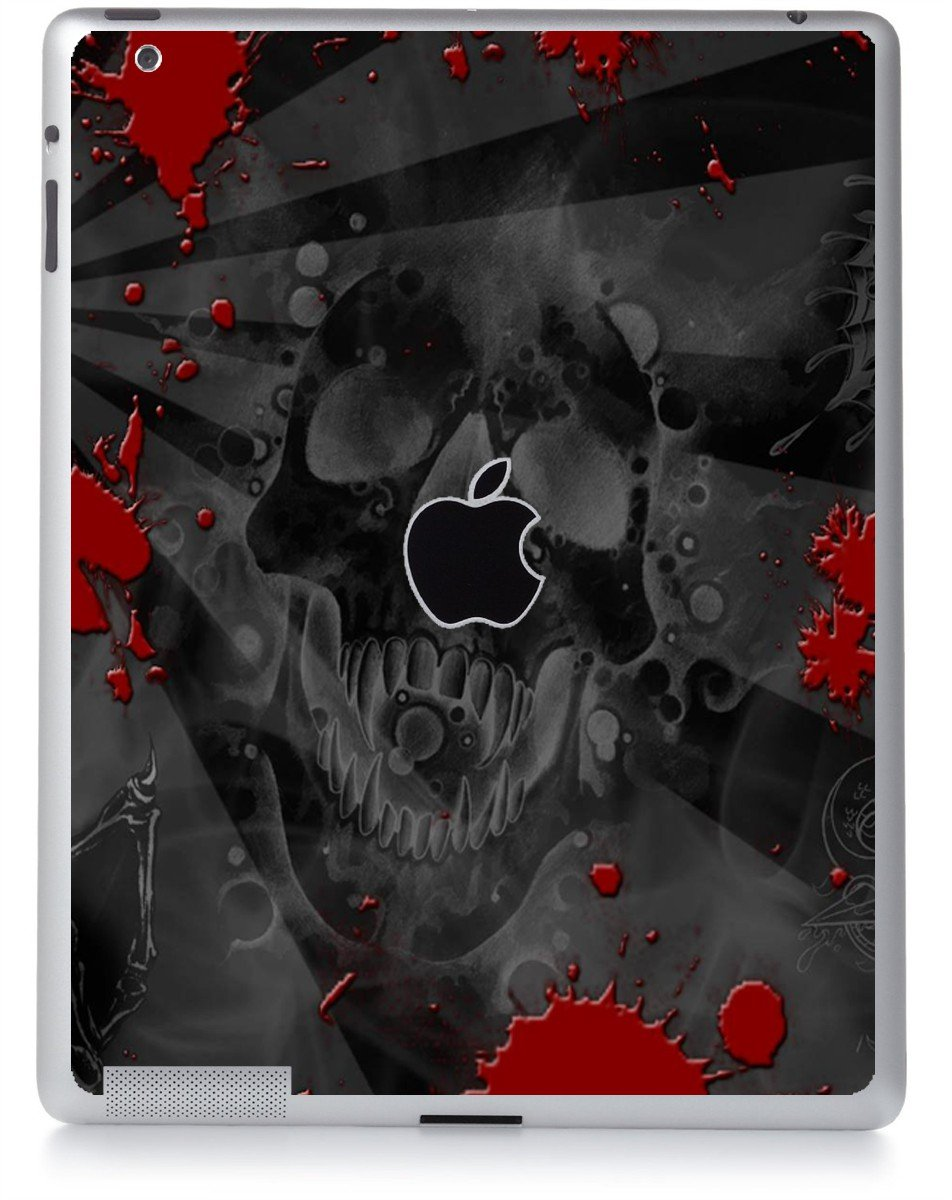 BLACK SKULL RED Apple iPad 2 A1395 SKIN