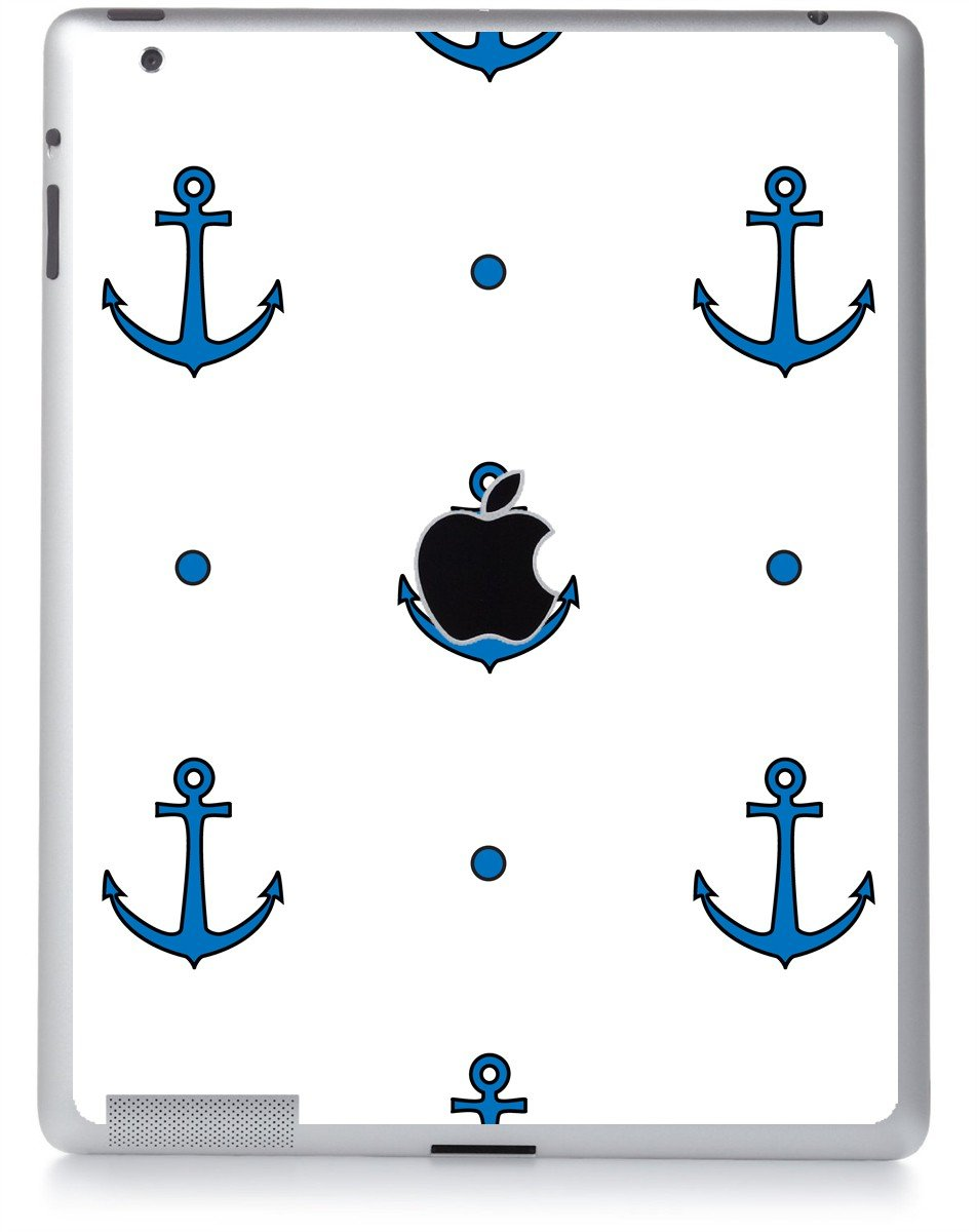 BLUE ANCHORS Apple iPad 2 A1395 SKIN