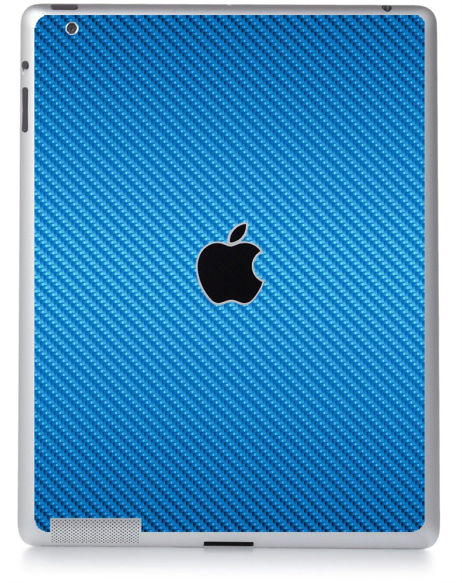 BLUE TEXTURED CARBON FIBER Apple iPad 2 A1395 SKIN