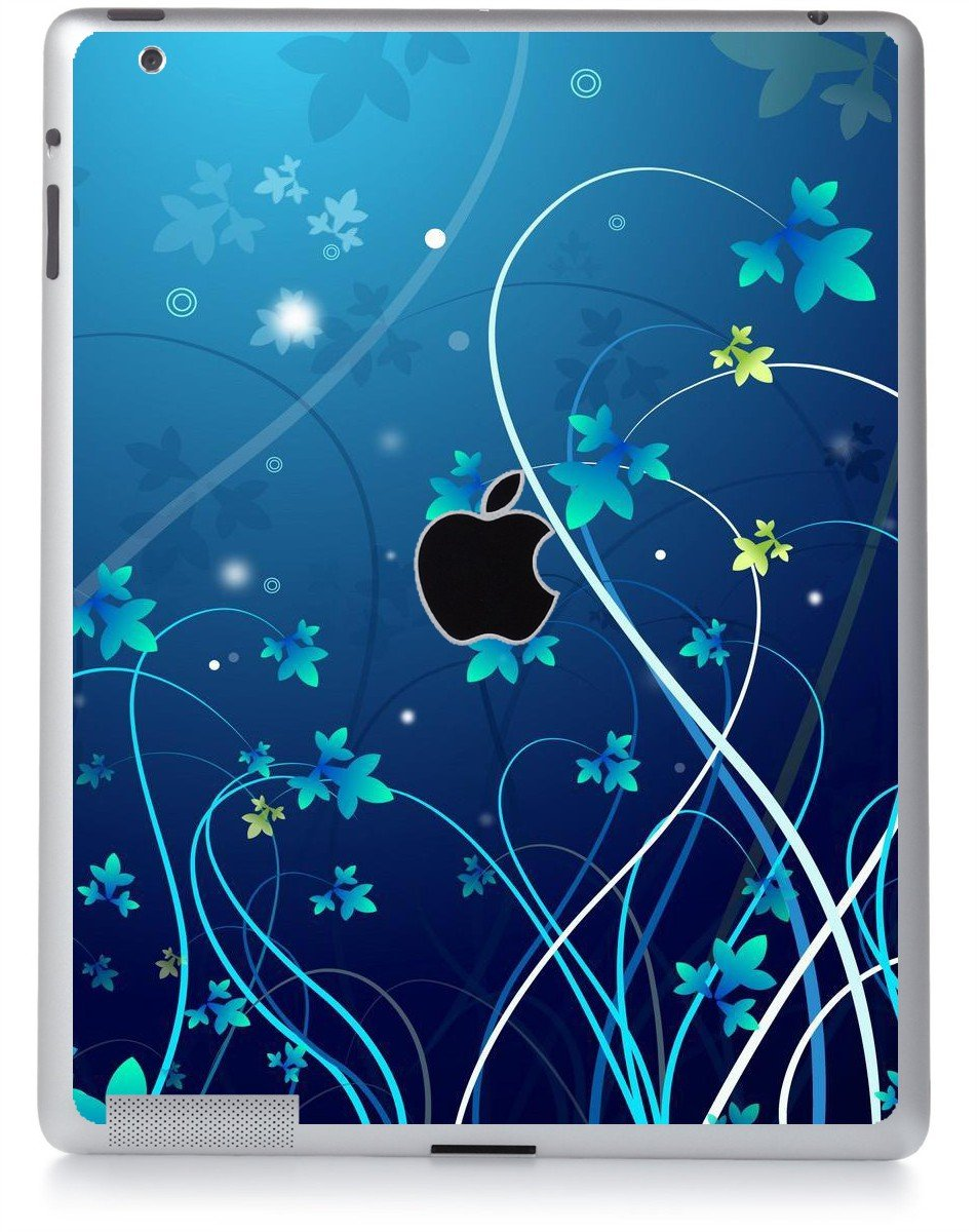 BLUE FLOWER Apple iPad 2 A1395 SKIN