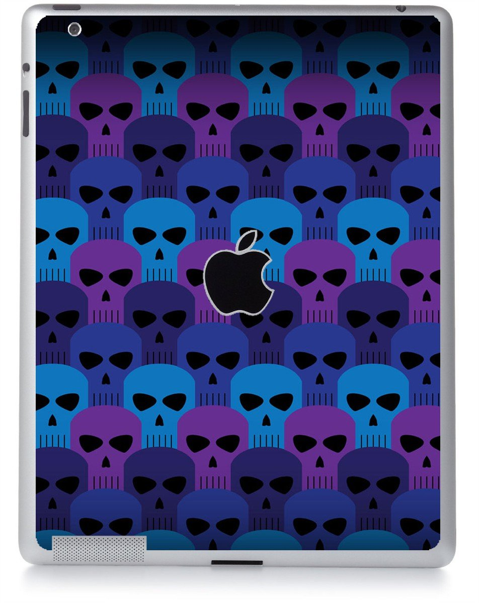 BLUE SKULLS Apple iPad 2 A1395 SKIN