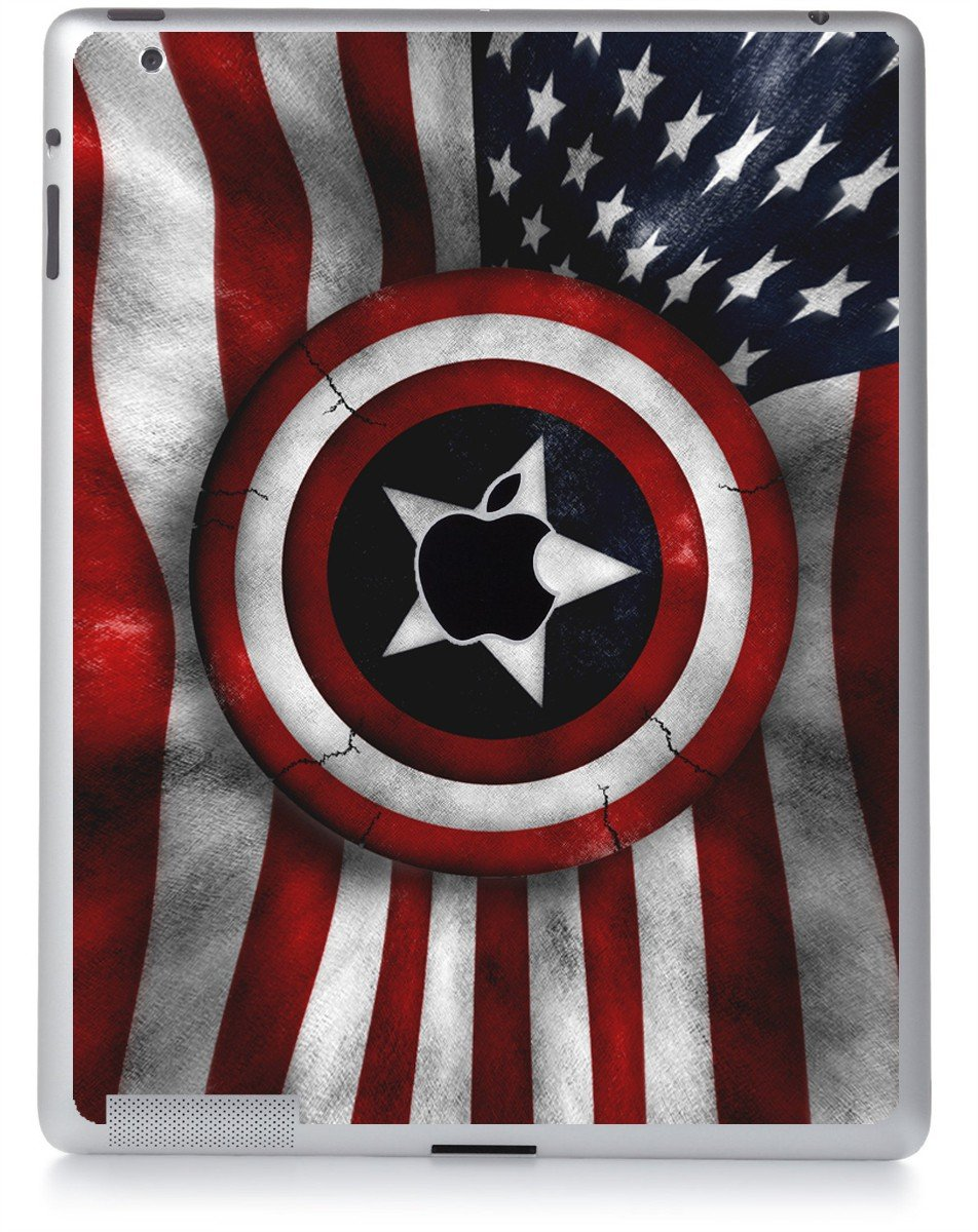 CAPTAIN AMERICA FLAG Apple iPad 2 A1395 SKIN