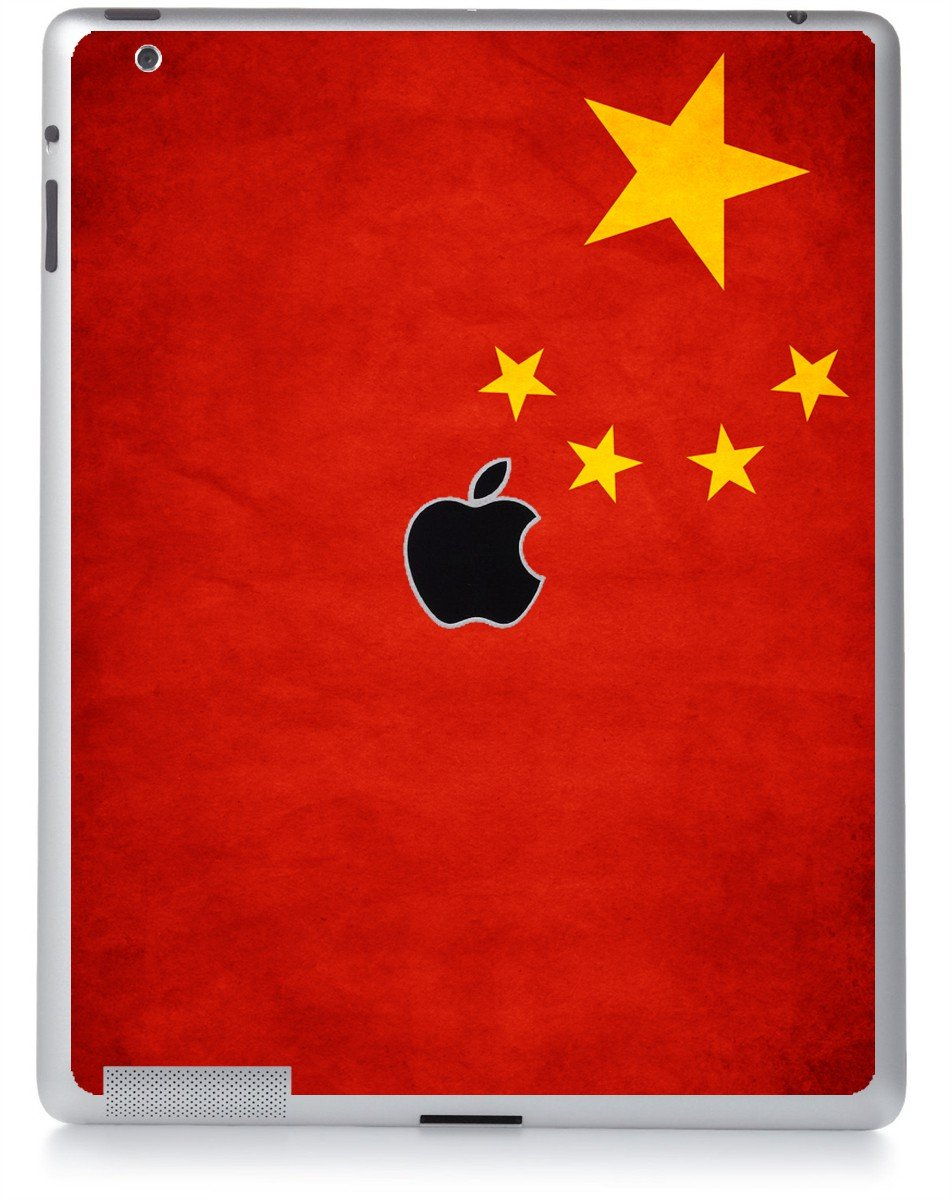 CHINESE FLAG Apple iPad 2 A1395 SKIN