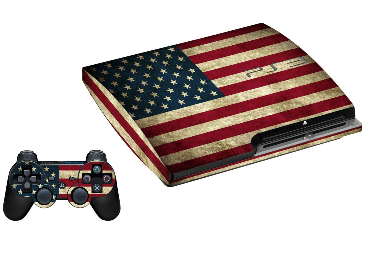 AMERICAN FLAG PLAYSTATION 3 GAME CONSOLE SKIN