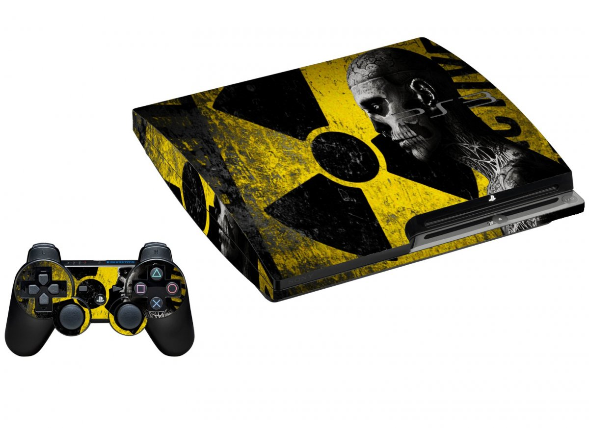 BIOHAZARD ZOMBIE PLAYSTATION 3 GAME CONSOLE SKIN