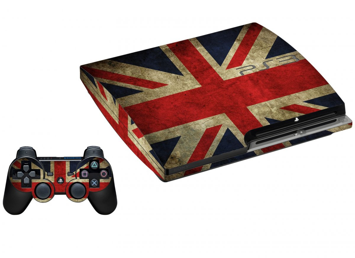 BRITISH FLAG PLAYSTATION 3 GAME CONSOLE SKIN