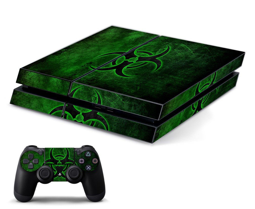 GREEN BIOHAZARD PLAYSTATION 4 GAME CONSOLE SKIN