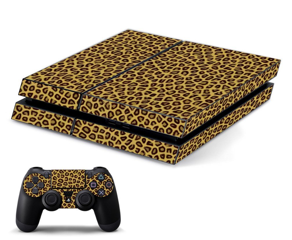 LEOPARD PRINT PLAYSTATION 4 GAME CONSOLE SKIN