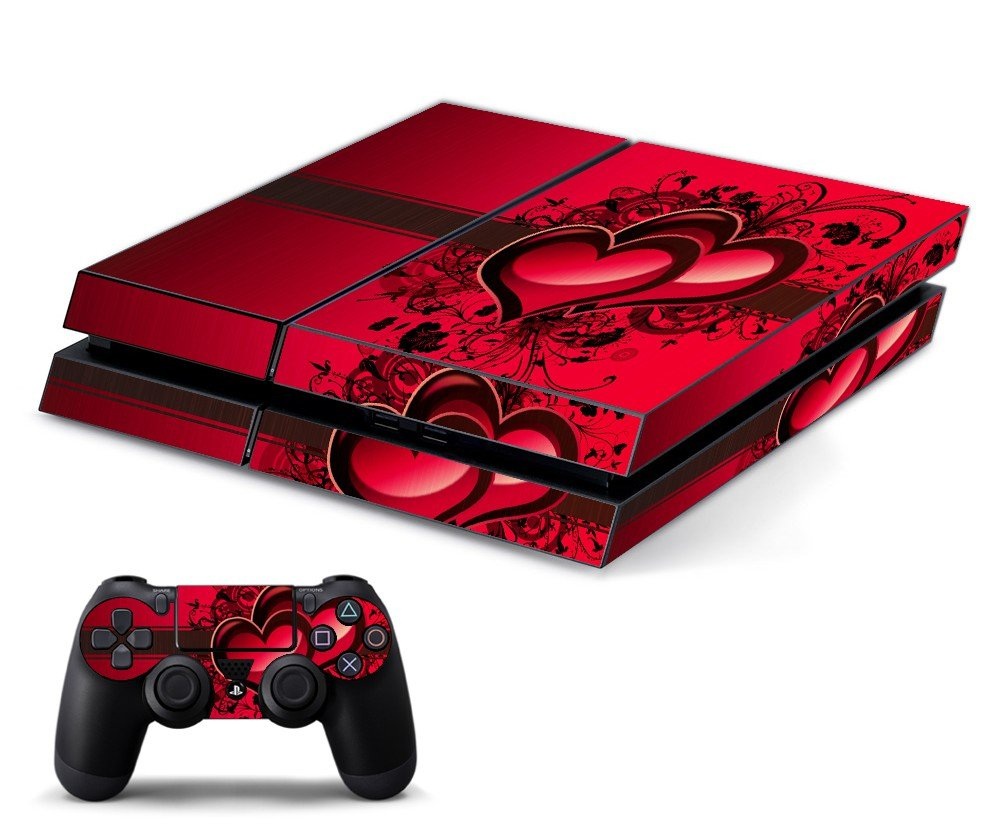 LOVE HEART PLAYSTATION 4 GAME CONSOLE SKIN
