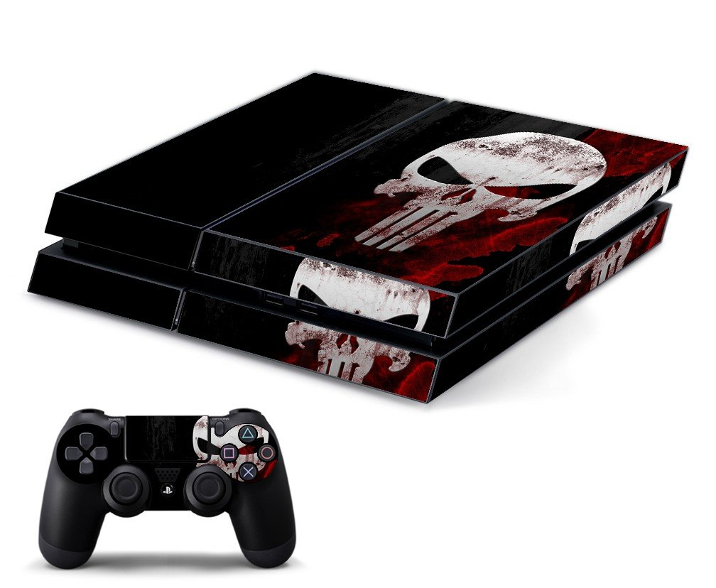 PUNISHER SKULL PLAYSTATION 4 GAME CONSOLE SKIN