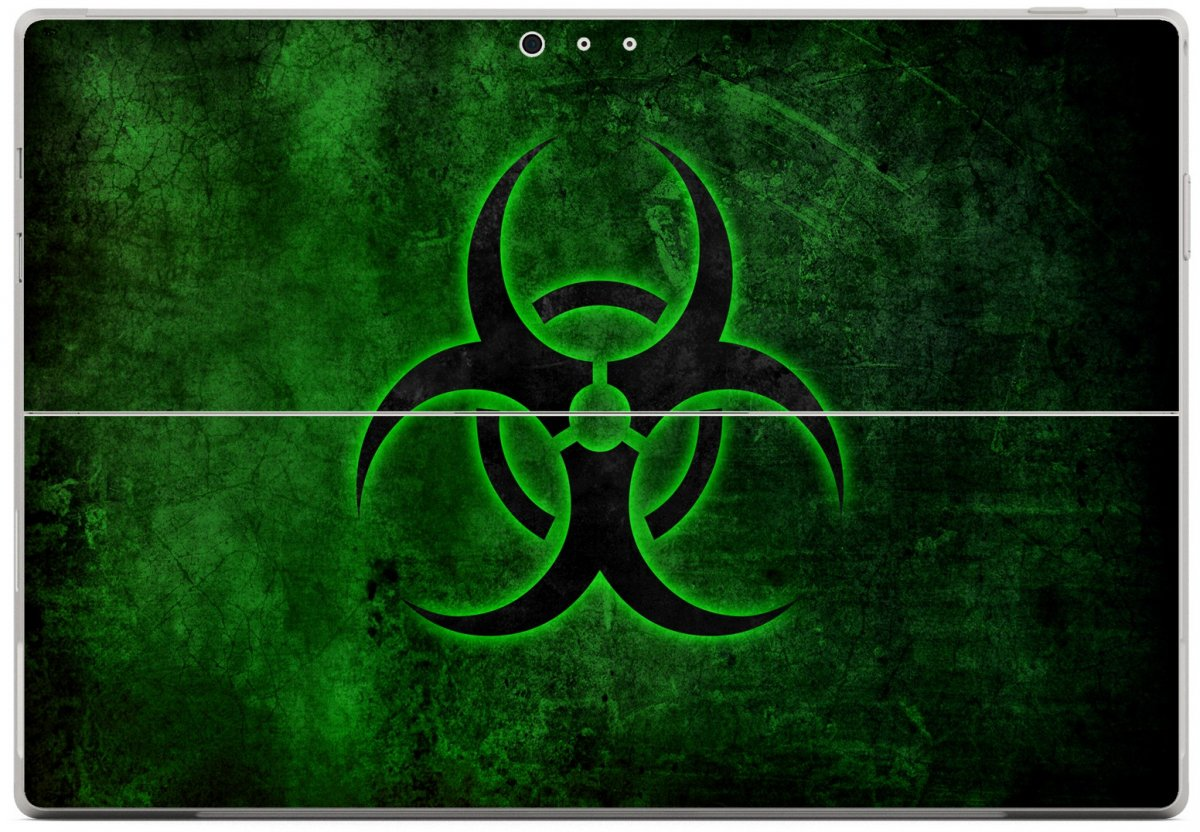 GREEN BIOHAZARD Microsoft Surface Pro 3 Skin