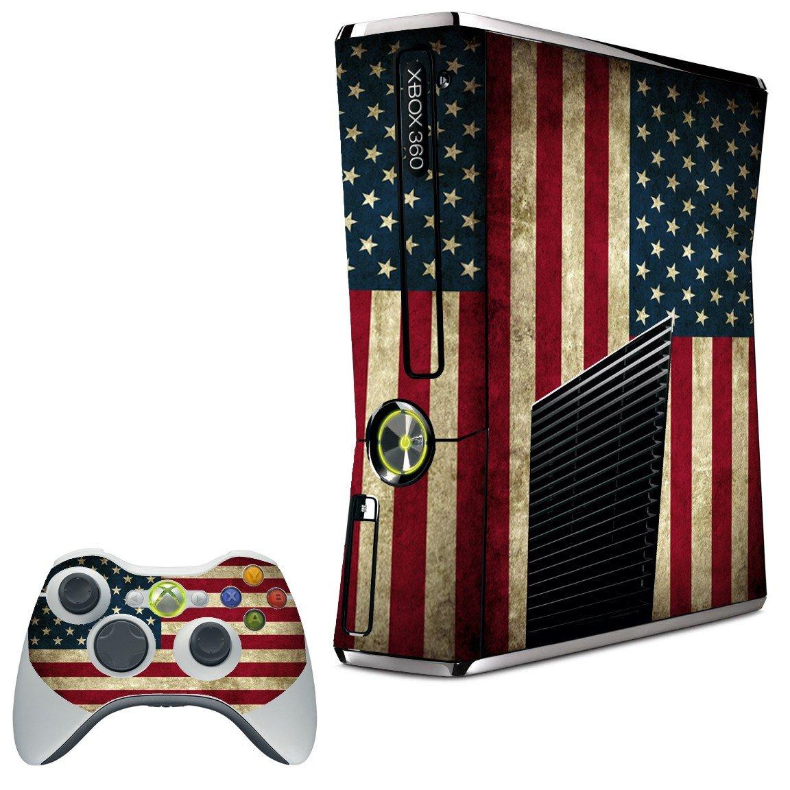 AMERICAN FLAG XBOX 360 SLIM GAME CONSOLE SKIN