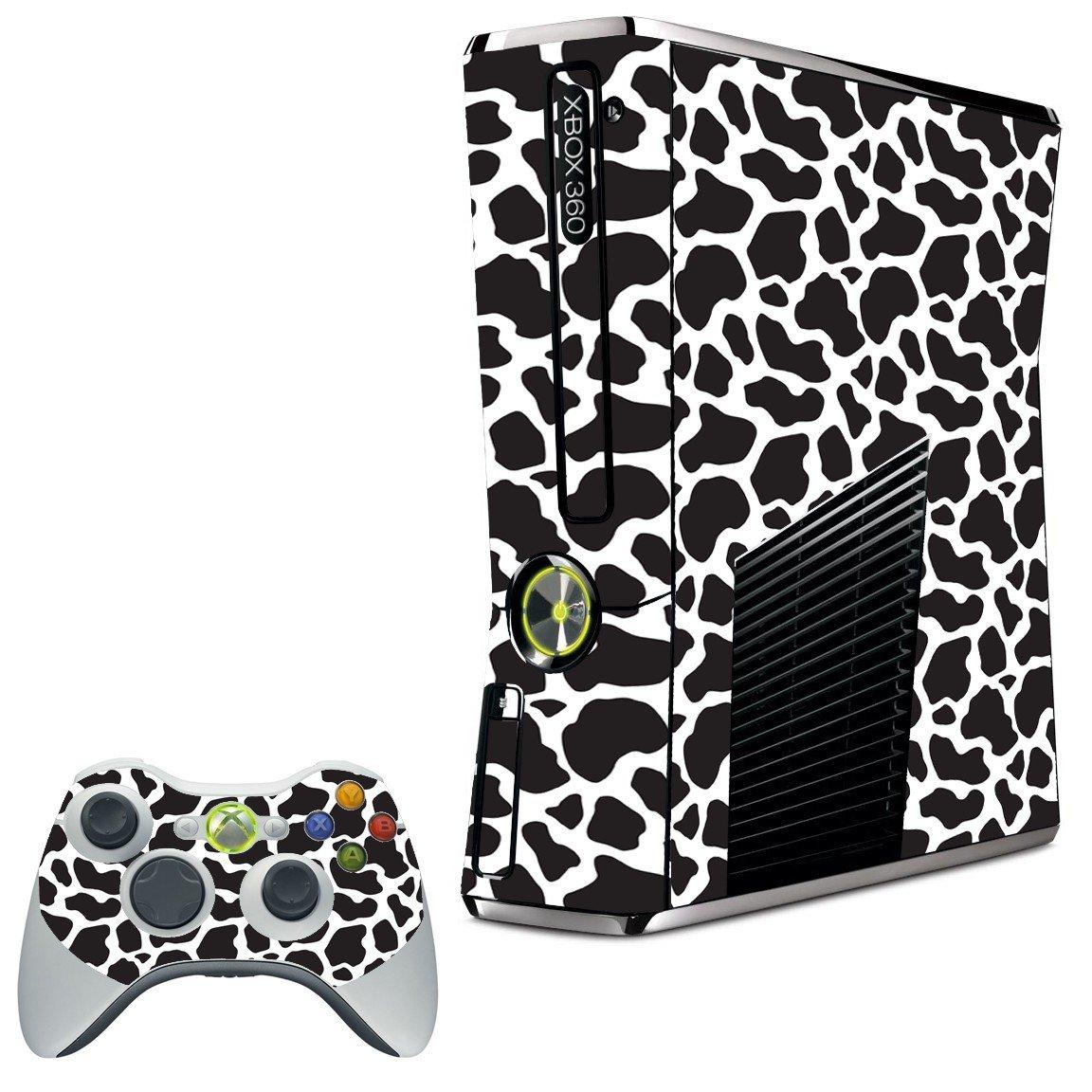 BLACK GIRAFFE XBOX 360 SLIM GAME CONSOLE SKIN
