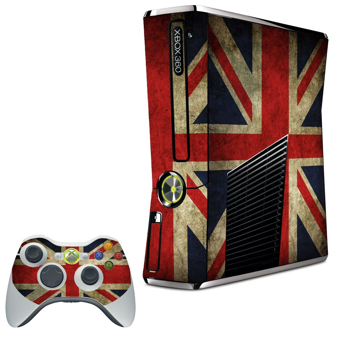 BRITISH FLAG XBOX 360 SLIM GAME CONSOLE SKIN