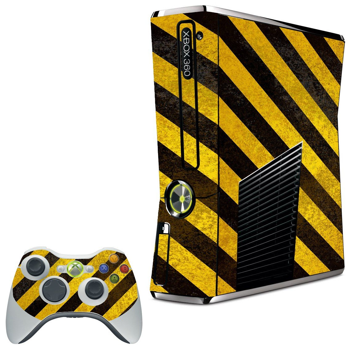 CAUTION STRIPES XBOX 360 SLIM GAME CONSOLE SKIN