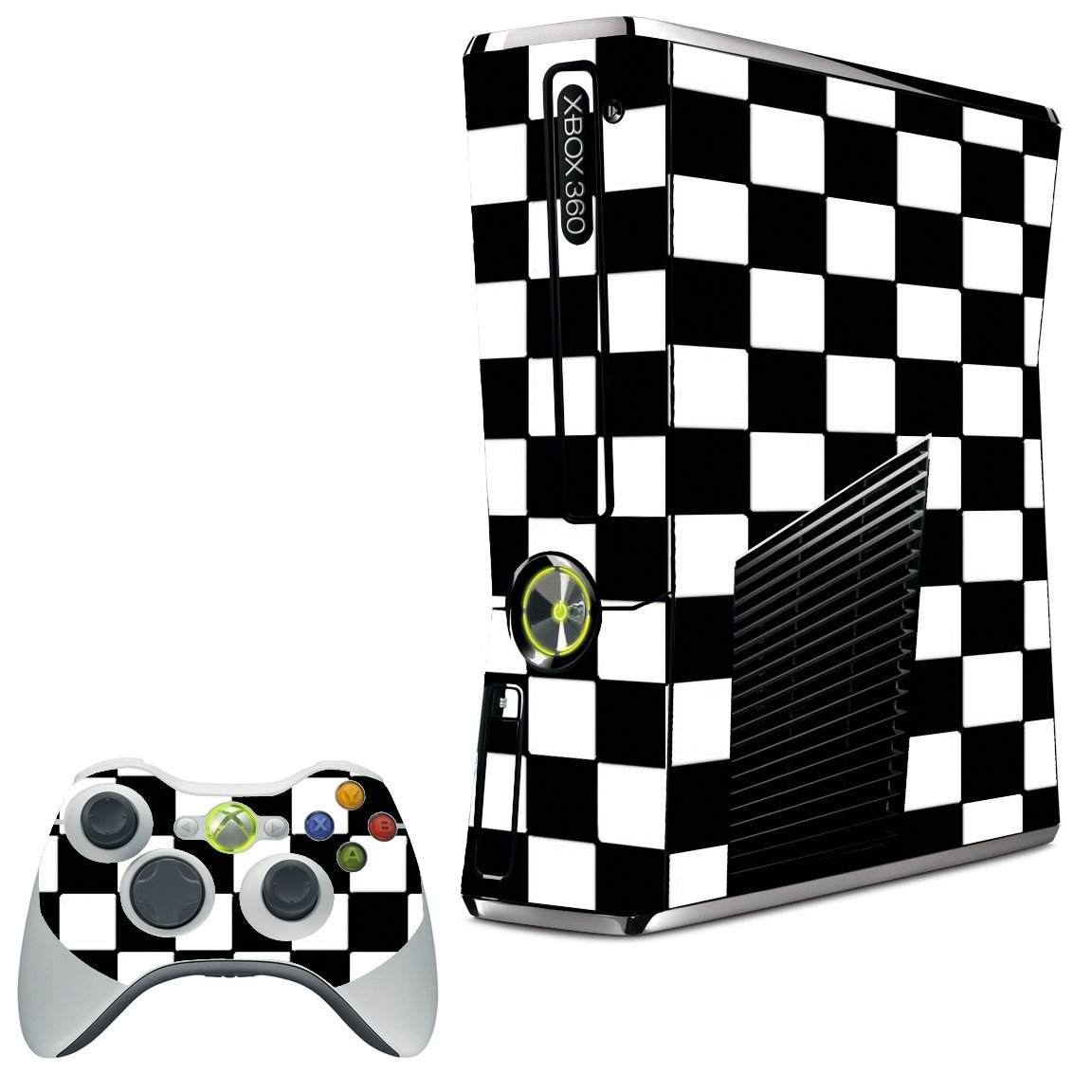CHECKERED XBOX 360 SLIM GAME CONSOLE SKIN