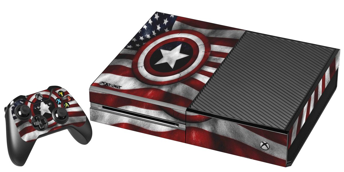 CAPTAIN AMERICA FLAG XBOX ONE GAME CONSOLE SKIN