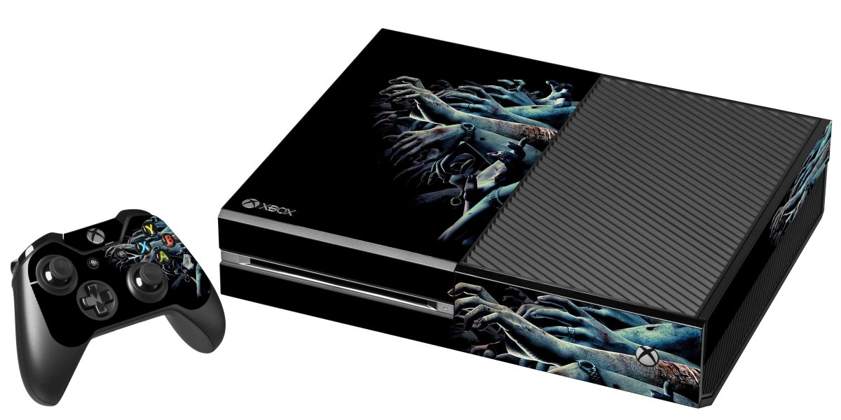 ZOMBIE HANDS XBOX ONE GAME CONSOLE SKIN