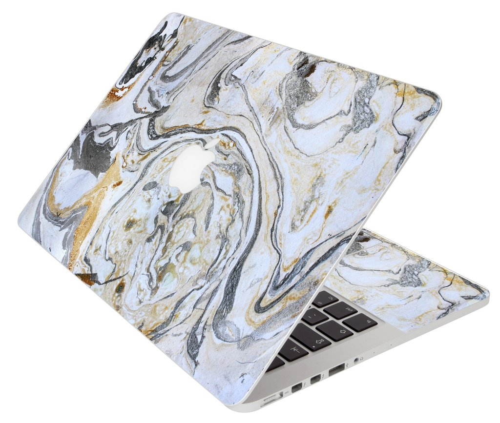 White, Gold, And Silver Marble Apple Macbook 12 Retina A1534