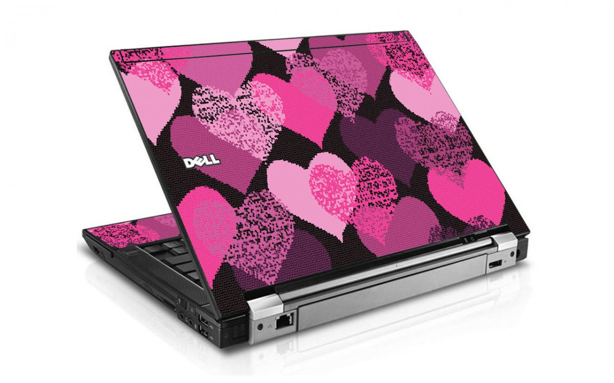 Pink Mosaic Hearts Dell E4300 Laptop Skin