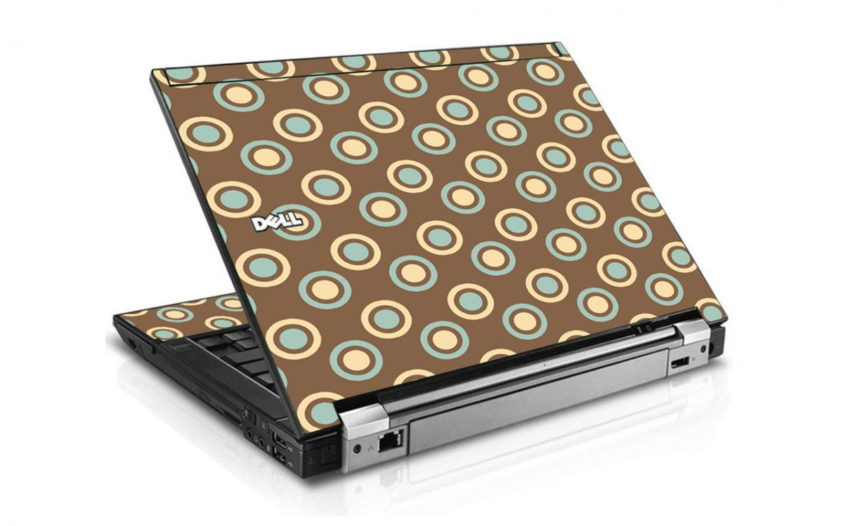 Retro Polka Dot Dell E4300 Laptop Skin