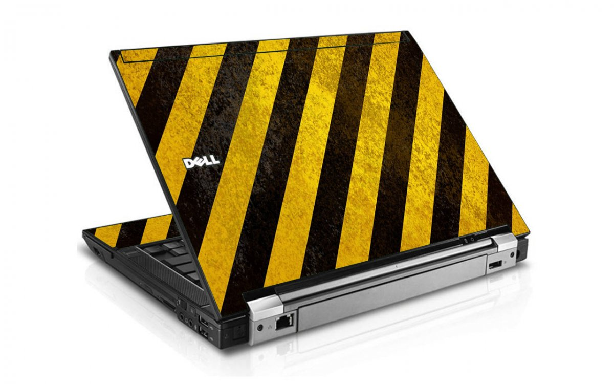 Caution Stripes Dell E4310 Laptop Skin